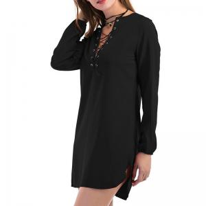 Fashion Casual Wild Long-Sleeved Dress -