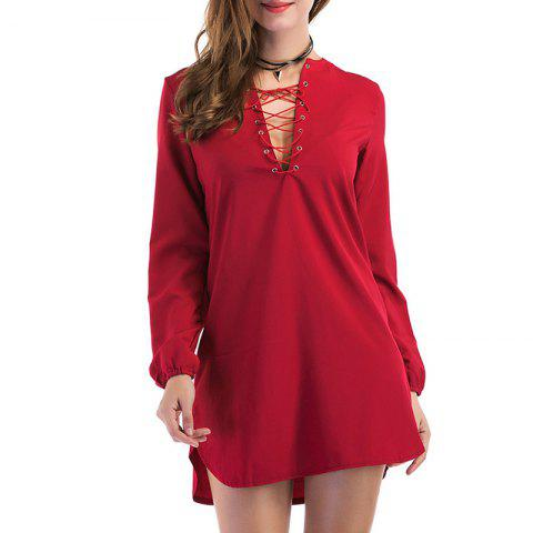 Latest Fashion Casual Wild Long-Sleeved Dress