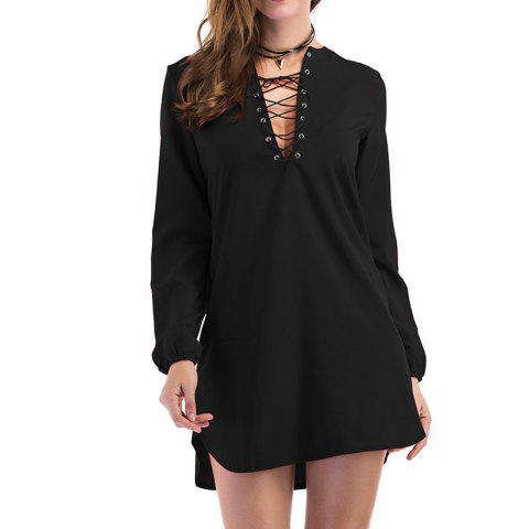 Outfits Fashion Casual Wild Long-Sleeved Dress
