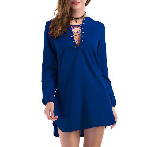 Sale Fashion Casual Wild Long-Sleeved Dress