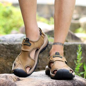 New Leather Hollow Casual Sandals -