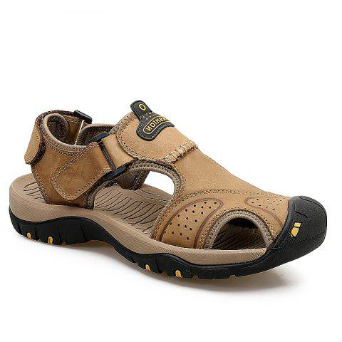 Online New Leather Hollow Casual Sandals