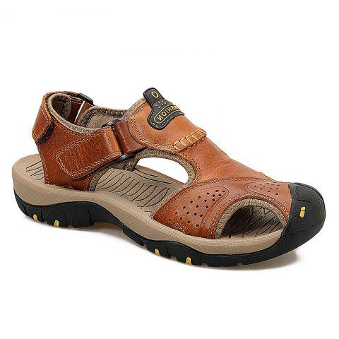 Fashion New Leather Hollow Casual Sandals
