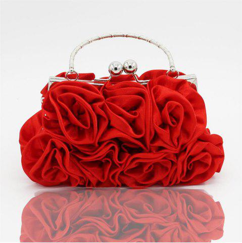 Online The silk flower with diamond evening clutch bag and wedding handbag