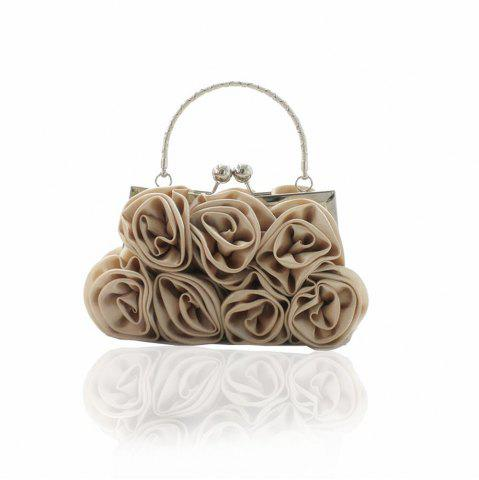Affordable The silk flower with diamond evening clutch bag and wedding handbag