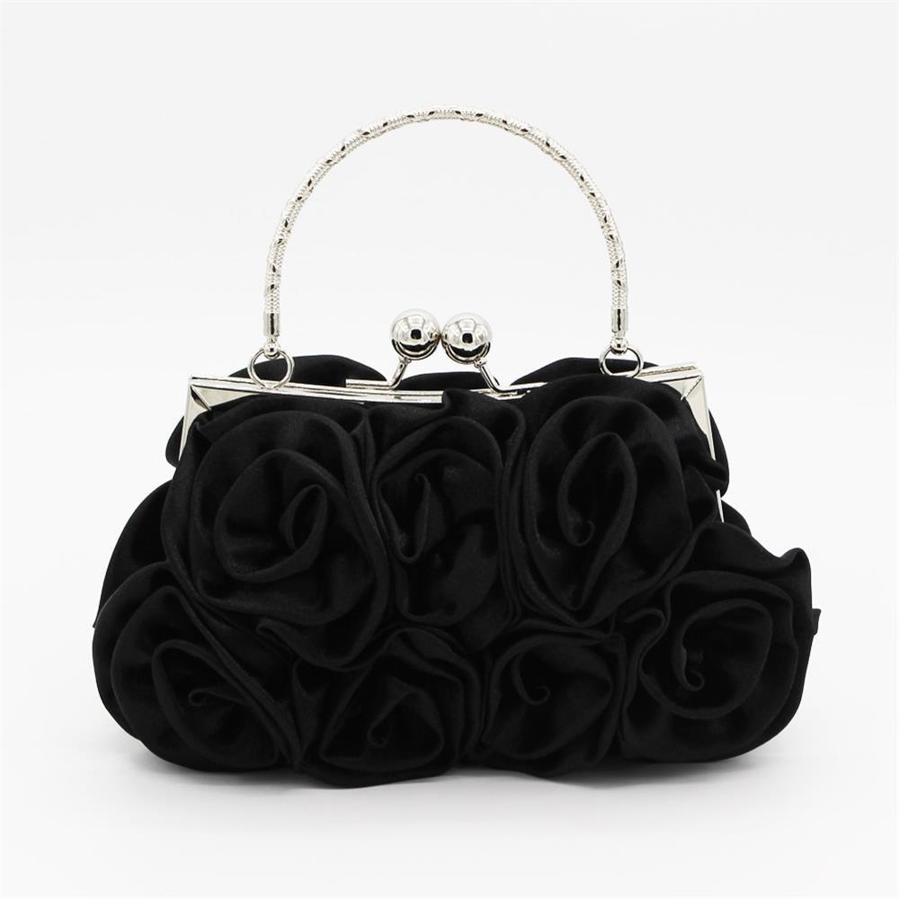 Discount The silk flower with diamond evening clutch bag and wedding handbag