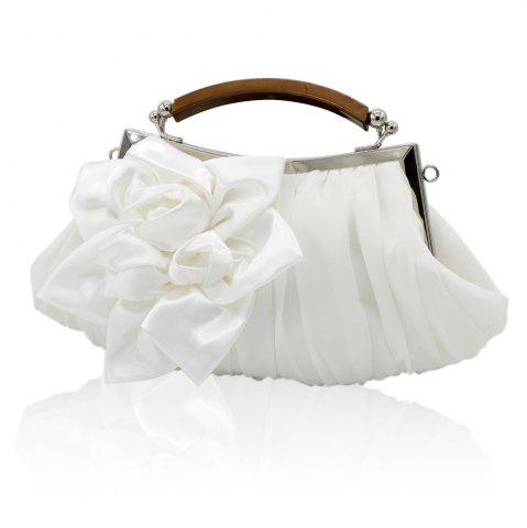 Outfit New Arrival Solid Bag Soft Party Top Solid Bag Hasp Wristlets Women Diamond Satin Flower Evening Tote