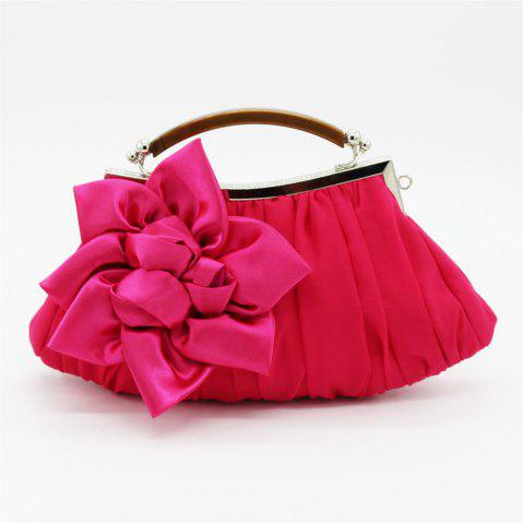 Online New Arrival Solid Bag Soft Party Top Solid Bag Hasp Wristlets Women Diamond Satin Flower Evening Tote