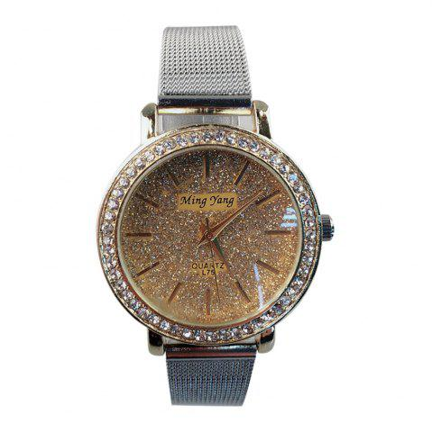 Shop Factory Explosion Models Silver Mesh with Ladies Watch Female Fashion White-Collar Classic Quartz Watch Small Dial Brace