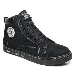 Ankel Boots High Top Sneakers Casual Lacing All Match Simple Shoes -
