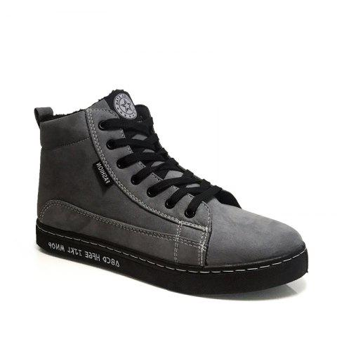 Affordable Anke Boots Thickened Lacing Comfy Warm All Match Shoes
