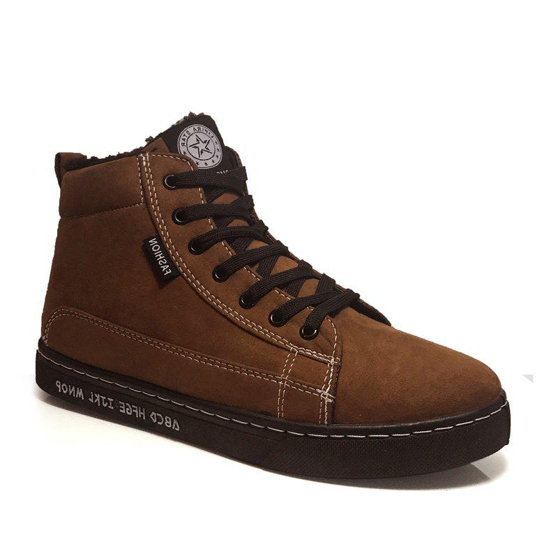 Fancy Anke Boots Thickened Lacing Comfy Warm All Match Shoes