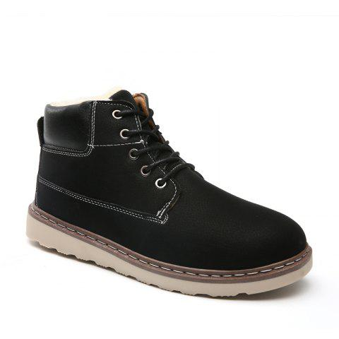 Store Men's Anke Boots Fashion Solid Color Lacing Tooling Shoes Antiskid Shoes