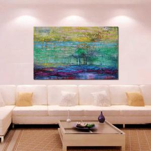 High Quality Hand Painted Abstract Acrylic Paint Oil Painting Canvas Art Frameless -