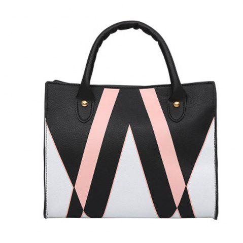 New Women's Handbag Color Block Patchwork Faddish All Match Bag