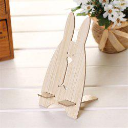 Universal Phone Holder Cute Cartoon Rabbit Wooden Cell Mount Holder for for Smartphone Desk Stand -