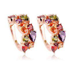 Ladies Luxcury Colorful Crystal  Earrings -