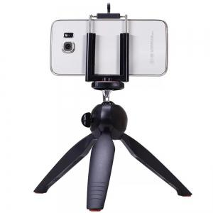 Premium Mini Tripod with Phone Mount Table Top Stand for Gopro Smartphones Compact Cameras and DSLRs -
