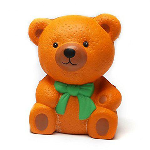 Affordable High Quality Squeeze Stretch Squishy Orange Bow Tie Bear Fruit Scented Slow Rising Gift Toy for Kids