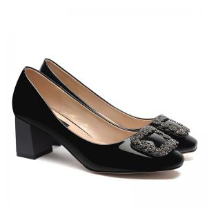 Spring New Square-Toed Women'S Shoes with High Heels and Pumps -