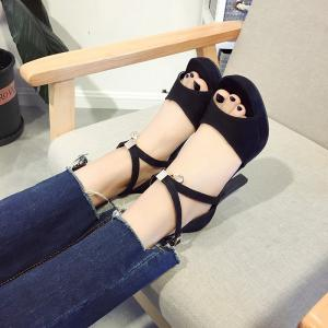 Toe Buckle All-Match High-Heeled Sandals -