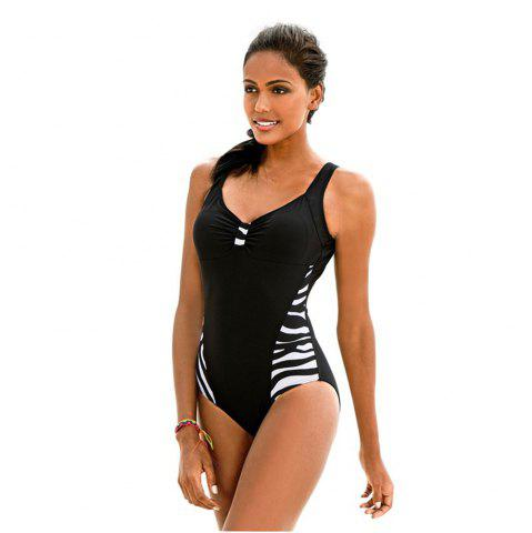 Shops Zebra Striped Swimsuit For Women