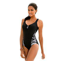 Zebra Striped Swimsuit For Women -