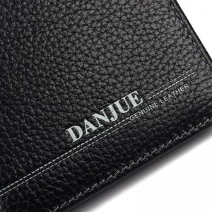 DANJUE Genuine Leather Wallets for Men'S Long Real Leather Business Purse Fashion Clutches Bag -