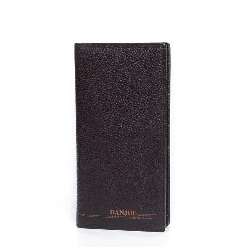 Buy DANJUE Genuine Leather Wallets for Men'S Long Real Leather Business Purse Fashion Clutches Bag
