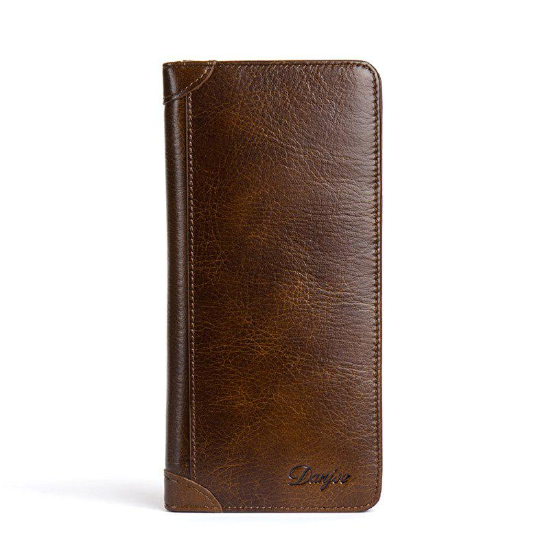 Unique DANJUE Men'S Wallets Genuin Phone Wallet