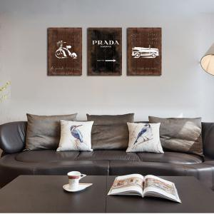 QiaoJiaHuaYuan No Frame Canvas Three Pieces of the Drawing Room Sofa Background Decoration Hanging Painting Now Contract -