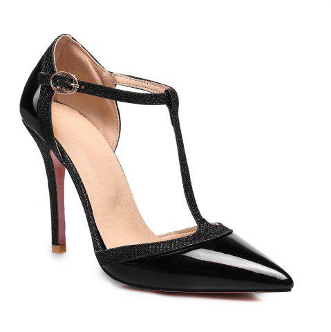 Discount Women's High Heel Sandals Pointed Toe Thin Heel Solid Color Personalized Elegant Shoes