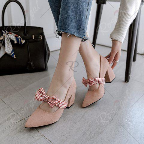 Unique Spring and Summer New Style Pointed Bow Color Butterfly Knot Temperament Single Shoes