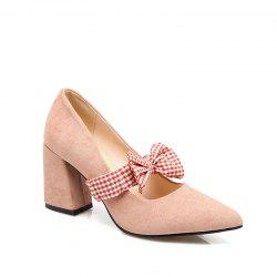 Spring and Summer New Style Pointed Bow Color Butterfly Knot Temperament Single Shoes -