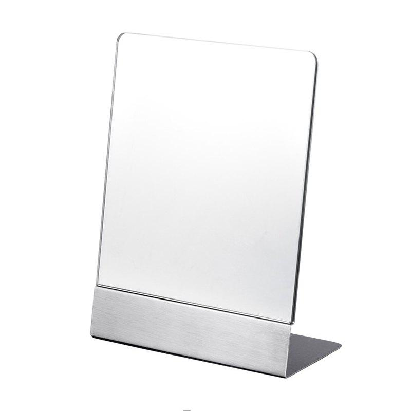 Outfit Stainless Steel Mirror Desktop Square Portable Beauty Mirror