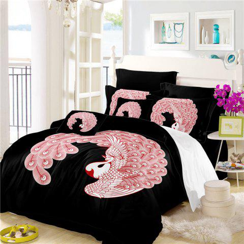 Fancy Embroidered Feather Series Four Pieces of Bedding