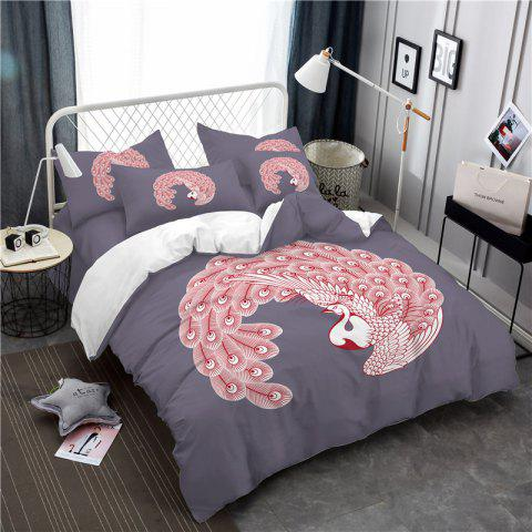 New Embroidered Feather Series Four Pieces of Bedding