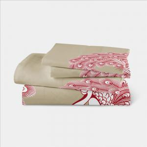Embroidered Feather Series Four Pieces of Bedding -