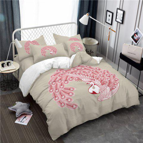 Shop Embroidered Feather Series Four Pieces of Bedding