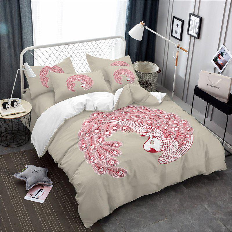 Cheap Embroidered Feather Series Four Pieces of Bedding