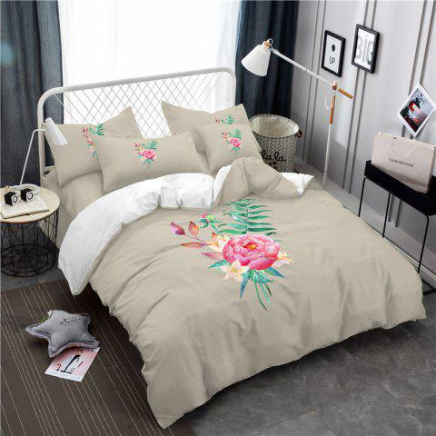 Unique Embroidered and Painted Series Pattern Leaf Design Fresh  Comfortable High Grade Bedding
