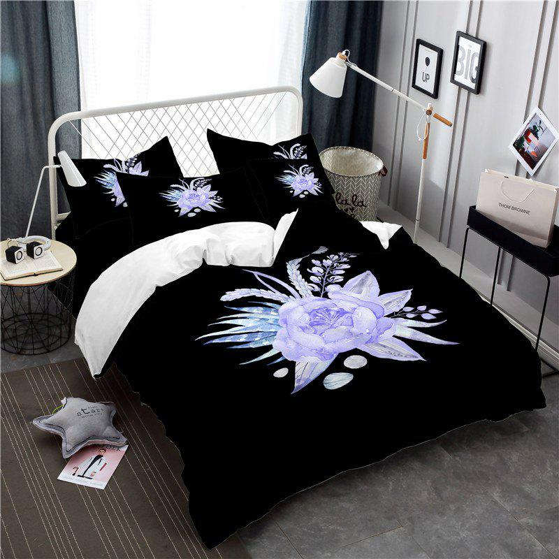 Online Imitation Embroidered and Painted Series Pattern Leaf Design Fresh and Comfortable High Grade Bedding set