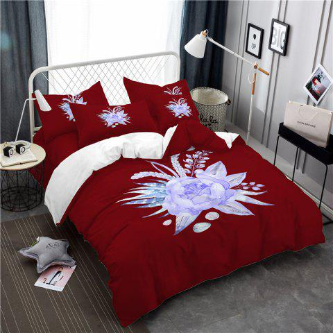 Outfits Imitation Embroidered and Painted Series Pattern Leaf Design Fresh and Comfortable High Grade Bedding set