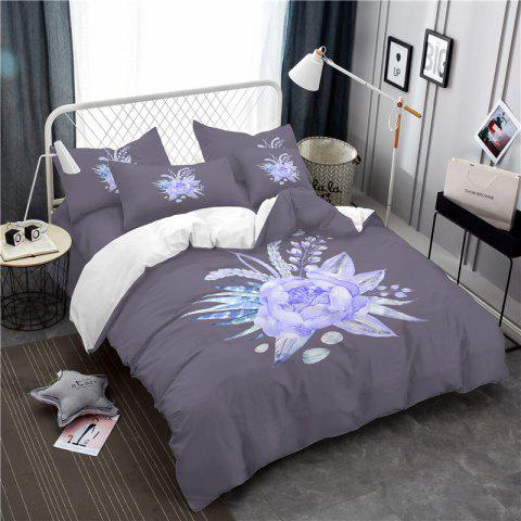 New Imitation Embroidered and Painted Series Pattern Leaf Design Fresh and Comfortable High Grade Bedding set