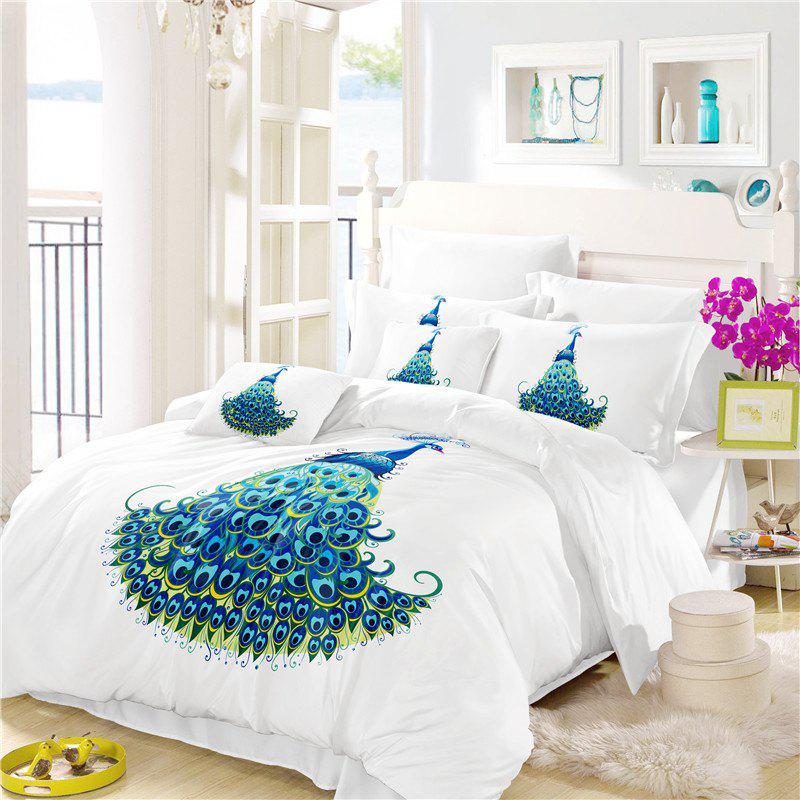 Chic Embroidery Peacock Feathers Series Four Pieces of Bedding SK11