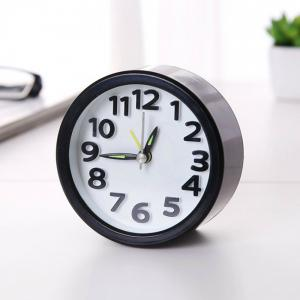 Alarm Clock Electronic Desktop Clock Digital Clock Circular No Ticking Snooze Watch -