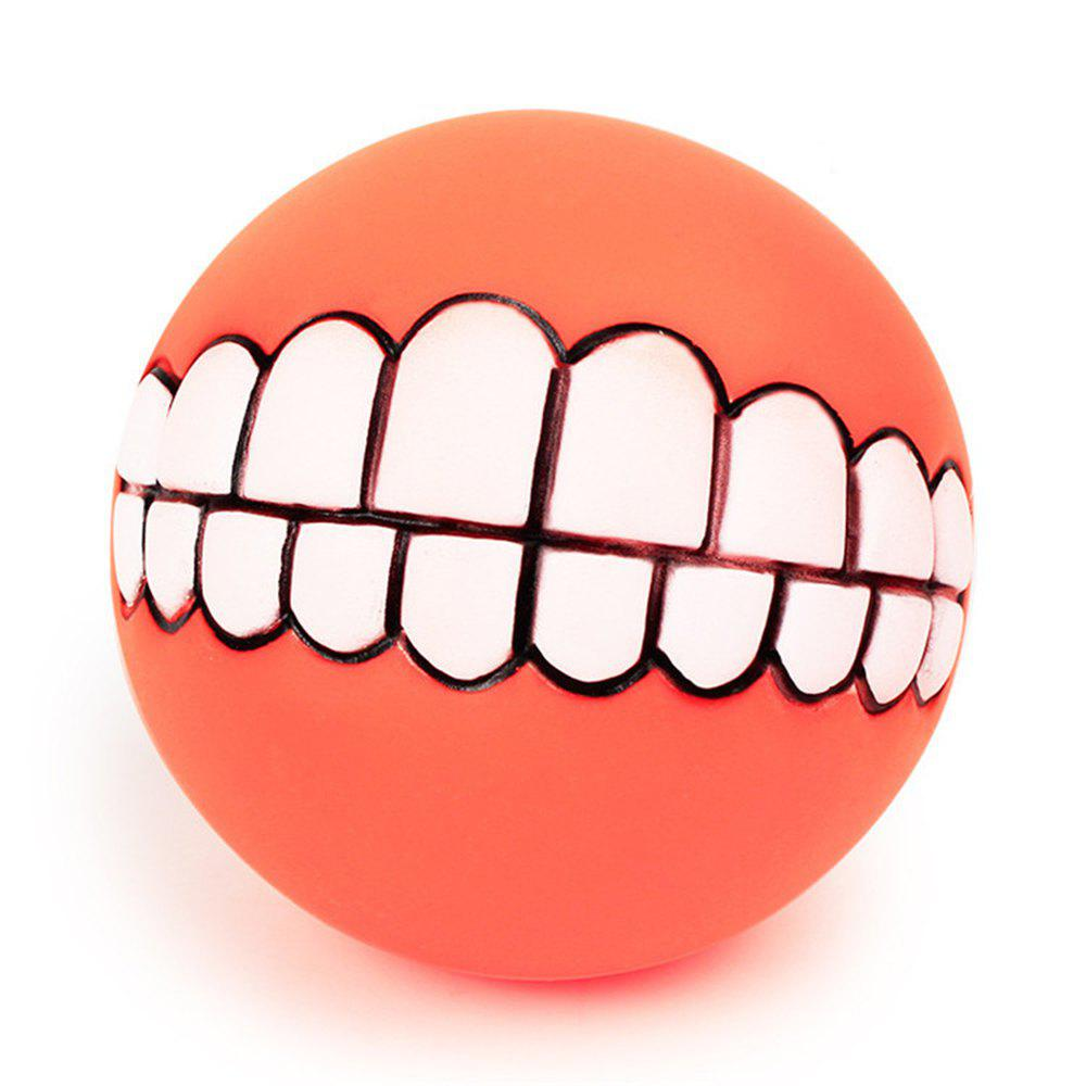 Animaux Chien Chiot Chat Boule Dents Style Jouet Silicone Chew Son Jouer Outil Chiot Chat Balle Jouet Orange