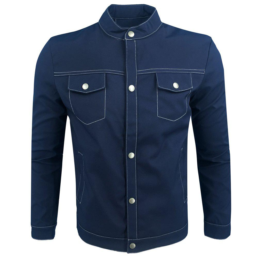 Discount Spring and Autumn Fashion Leisure Stand Collar Tide Jacket