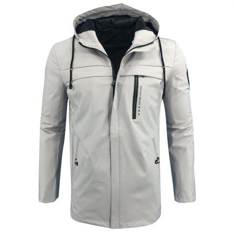 Cheap Autumn and Winter Hooded Fashion Casual Windproof Long Jacket