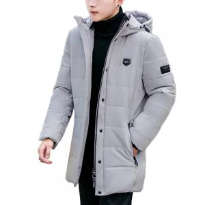 2018 Men's Fashion Trend Warm Long Cotton Coat -